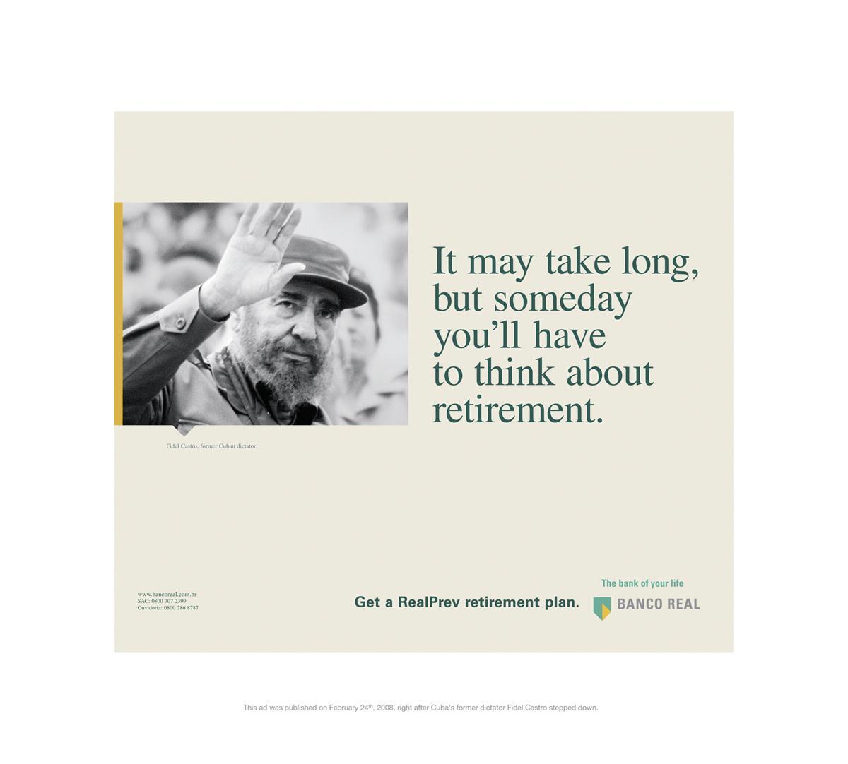 Banco Real Print Ad -  Fidel
