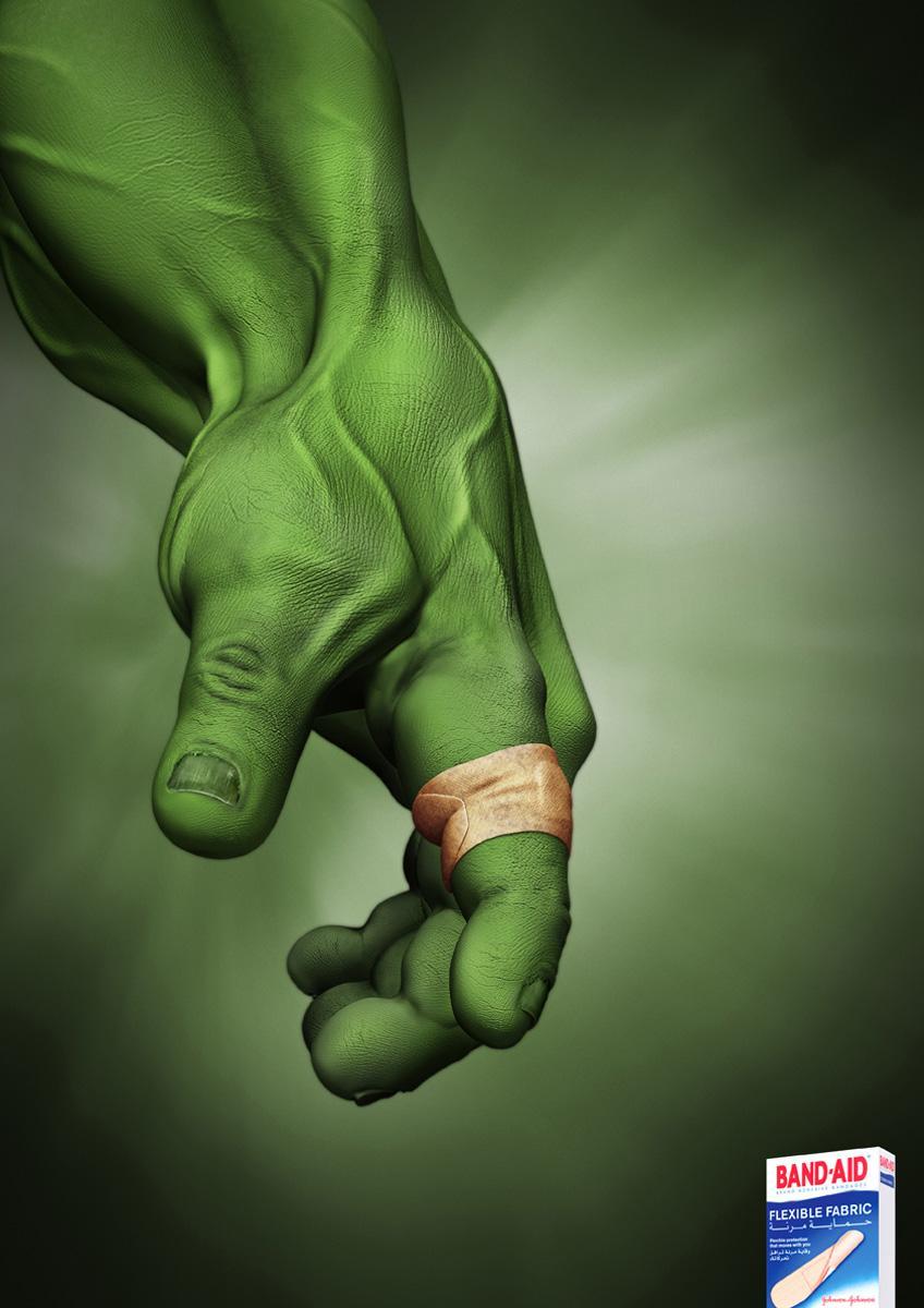 Band Aid Print Ad -  Hulk