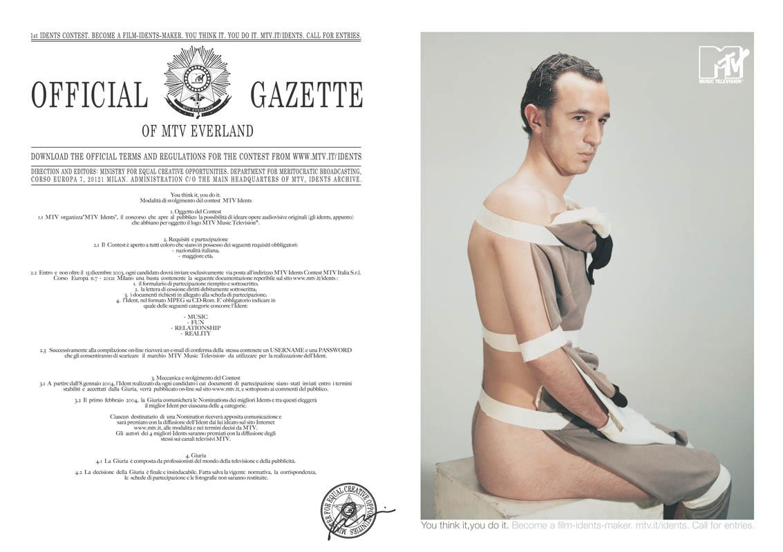 MTV Print Ad -  Official gazette
