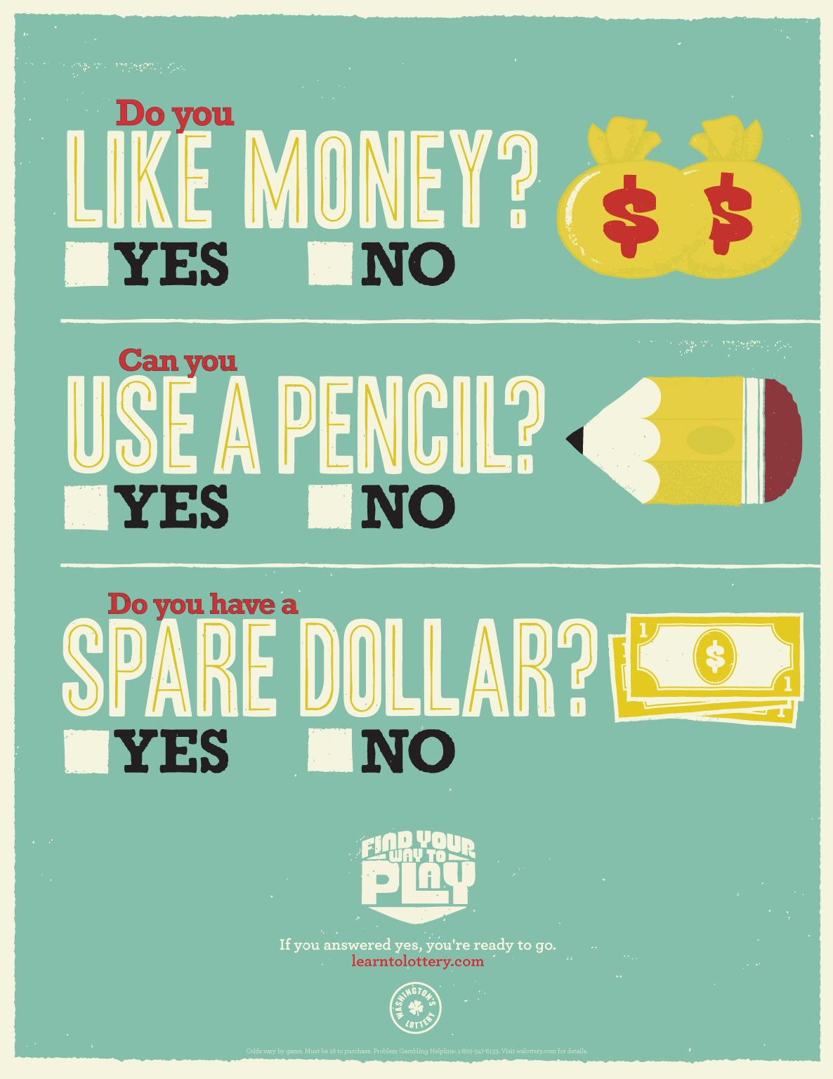 Washington Lottery Outdoor Ad -  Pencil