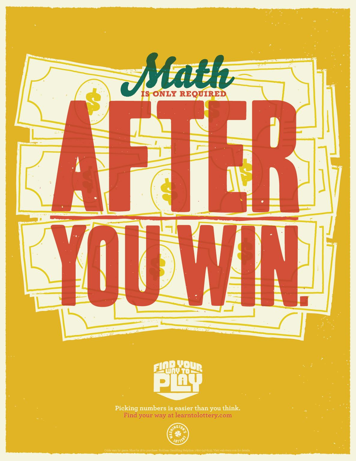 Washington Lottery Outdoor Ad -  Math