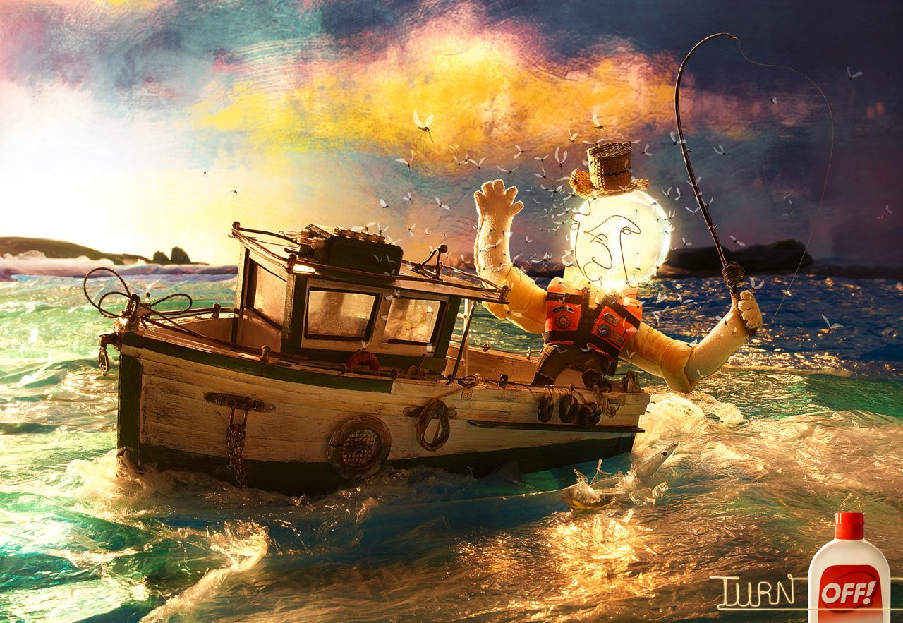 Off! Print Ad -  Boat