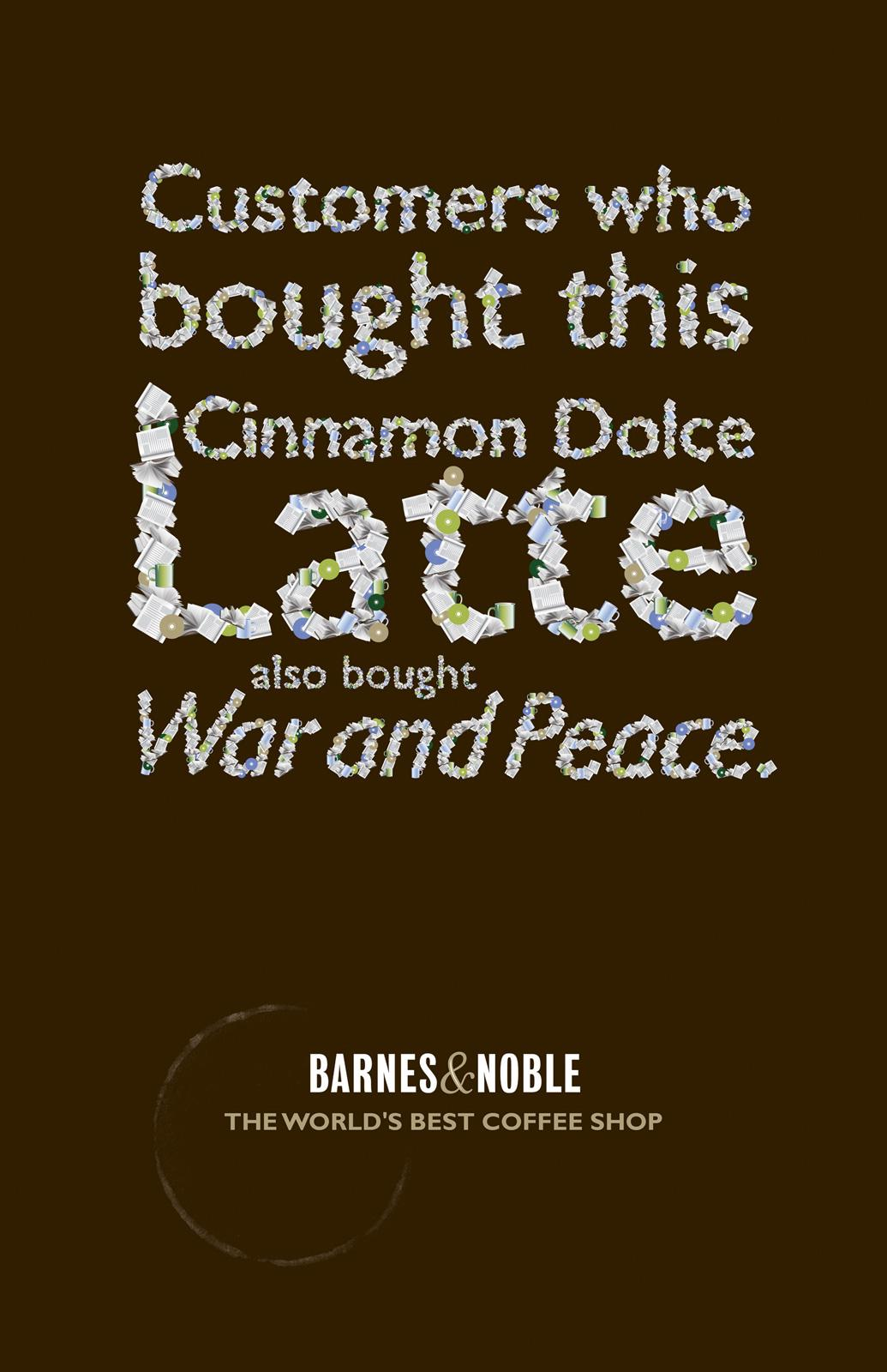 Barnes & Noble Outdoor Ad -  Latte