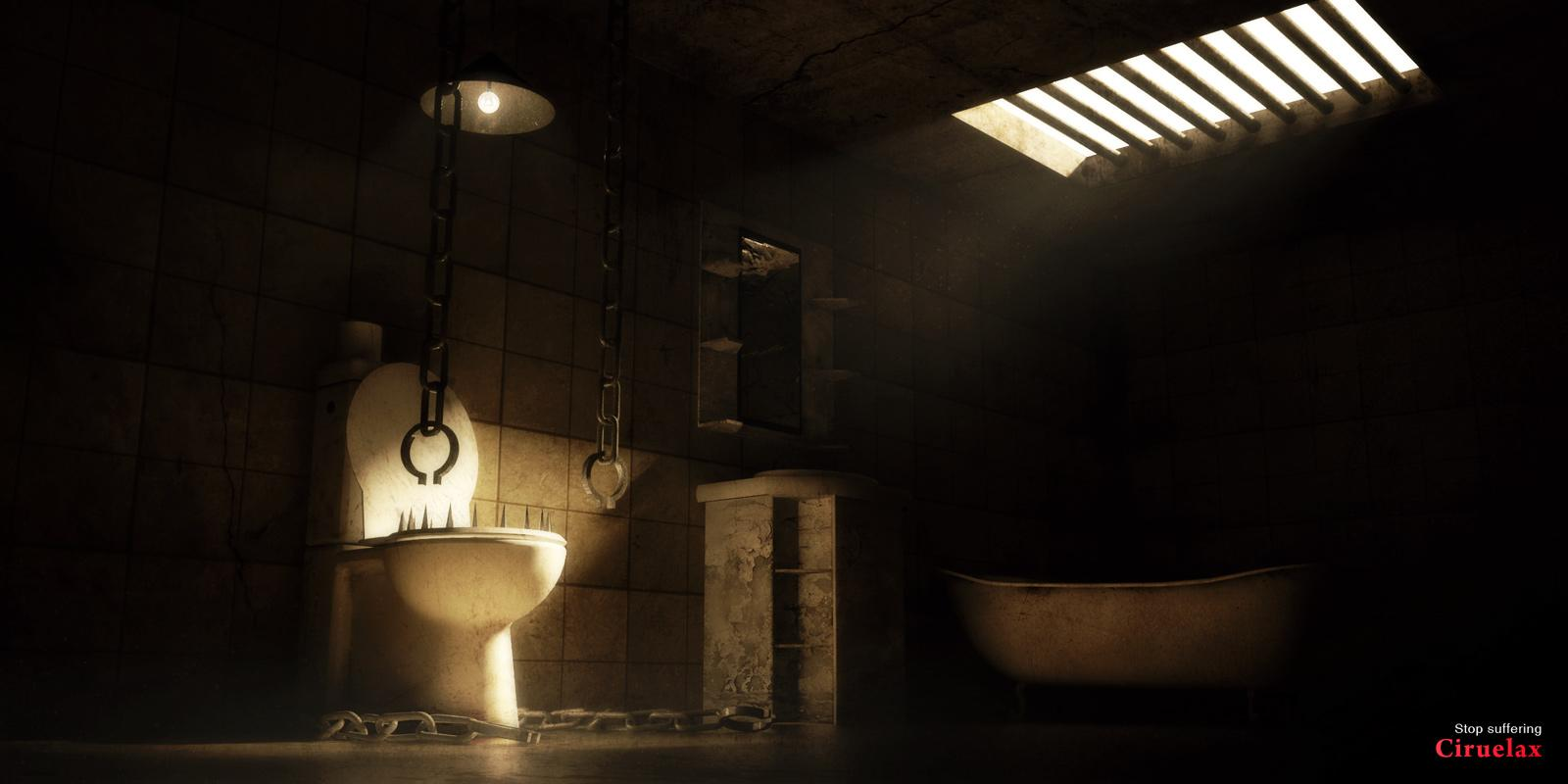 Ciruelax Print Ad -  Bathroom torture