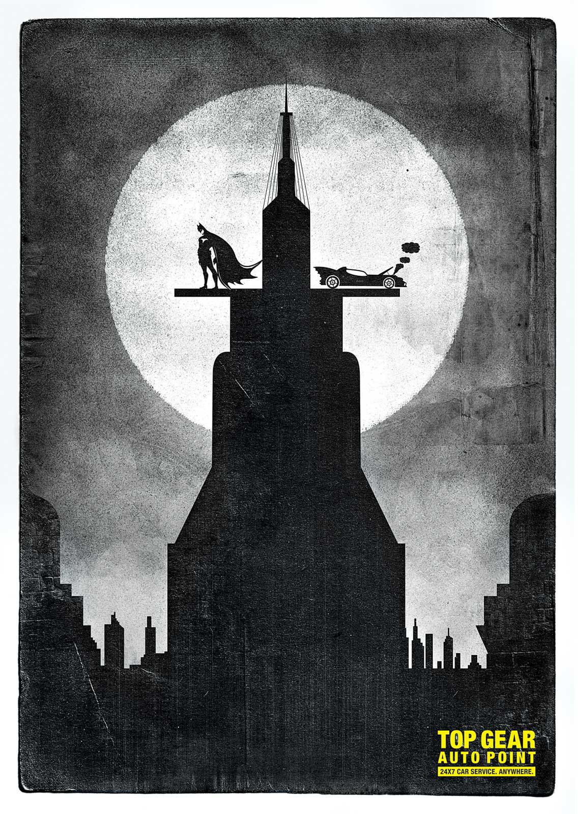 Top Gear Auto Point Print Ad -  Batman