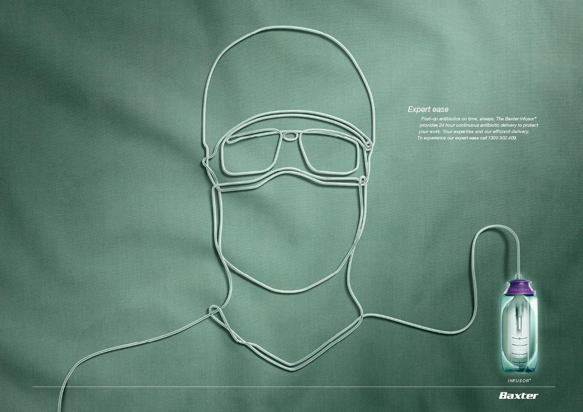 Baxter Infusor Print Ad -  Surgeon