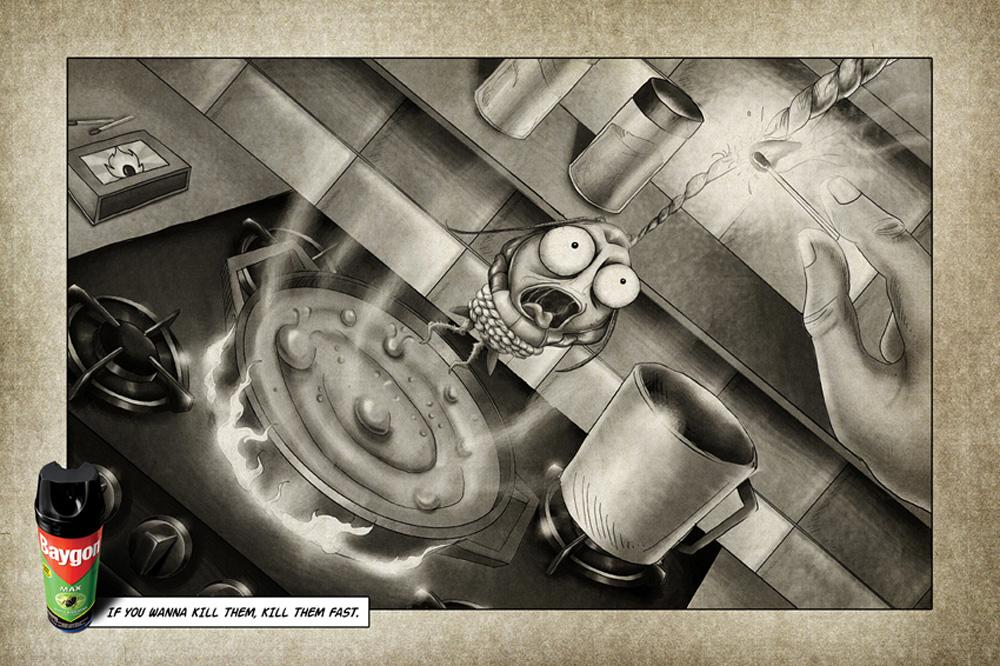 Baygon Print Ad -  Boiling water