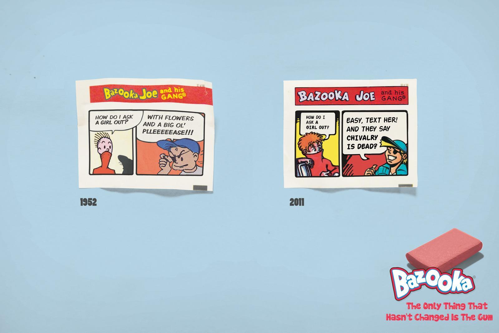 Bazooka Print Ad -  Ask out