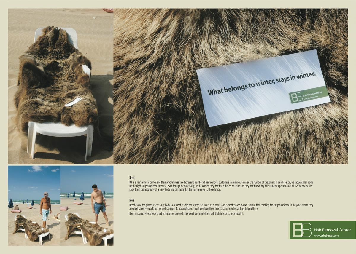 BB Hair Removal Center Ambient Ad -  Winter fur