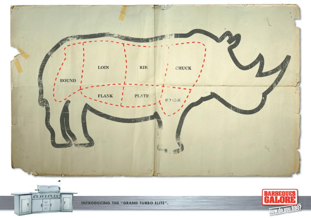 BBQ's Galore Print Ad -  Rhino