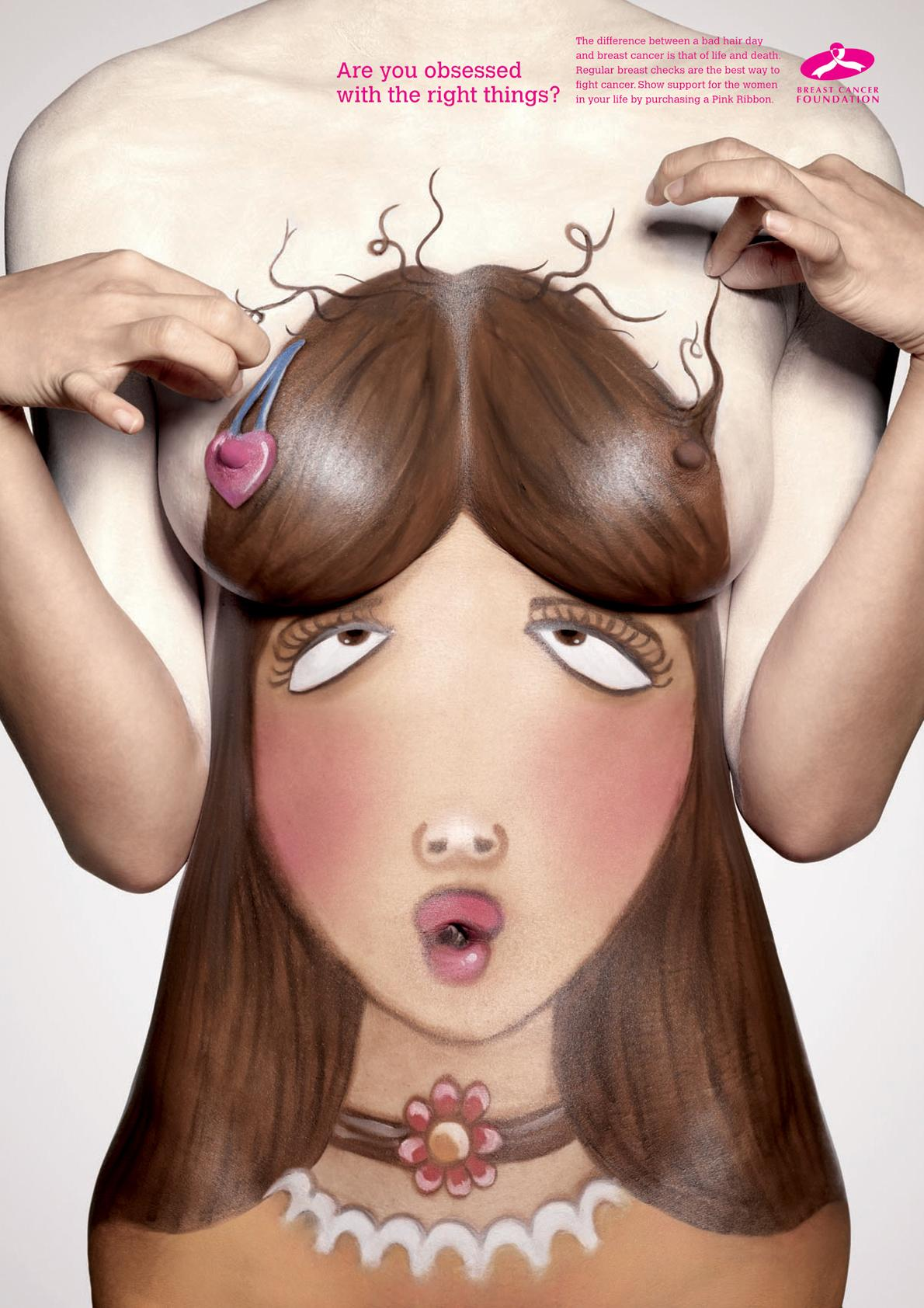 Breast Cancer Foundation Print Ad -  Bad hair day