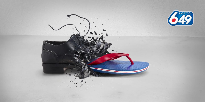 Lotto 649 Print Ad -  Shoe