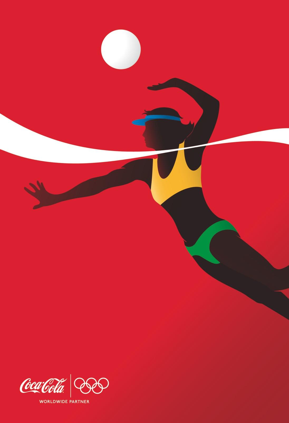 Coca-Cola Outdoor Ad -  Athletes, Beach Volleyball Player