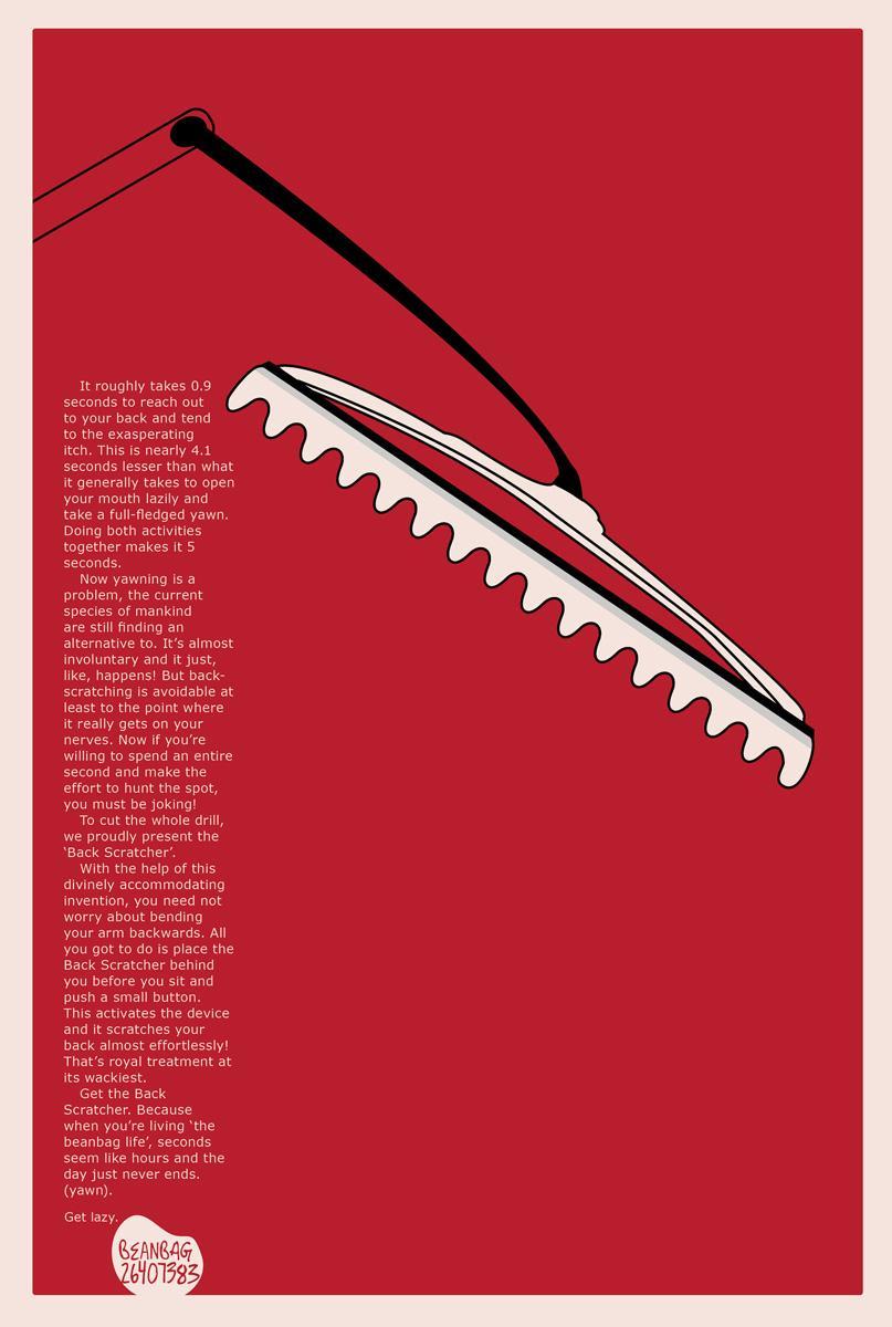 Beanbag Print Ad -  Back scratcher
