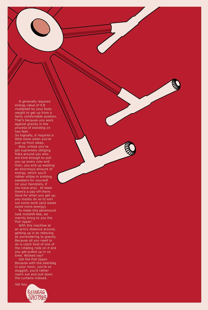 Beanbag Print Ad -  Pull upper