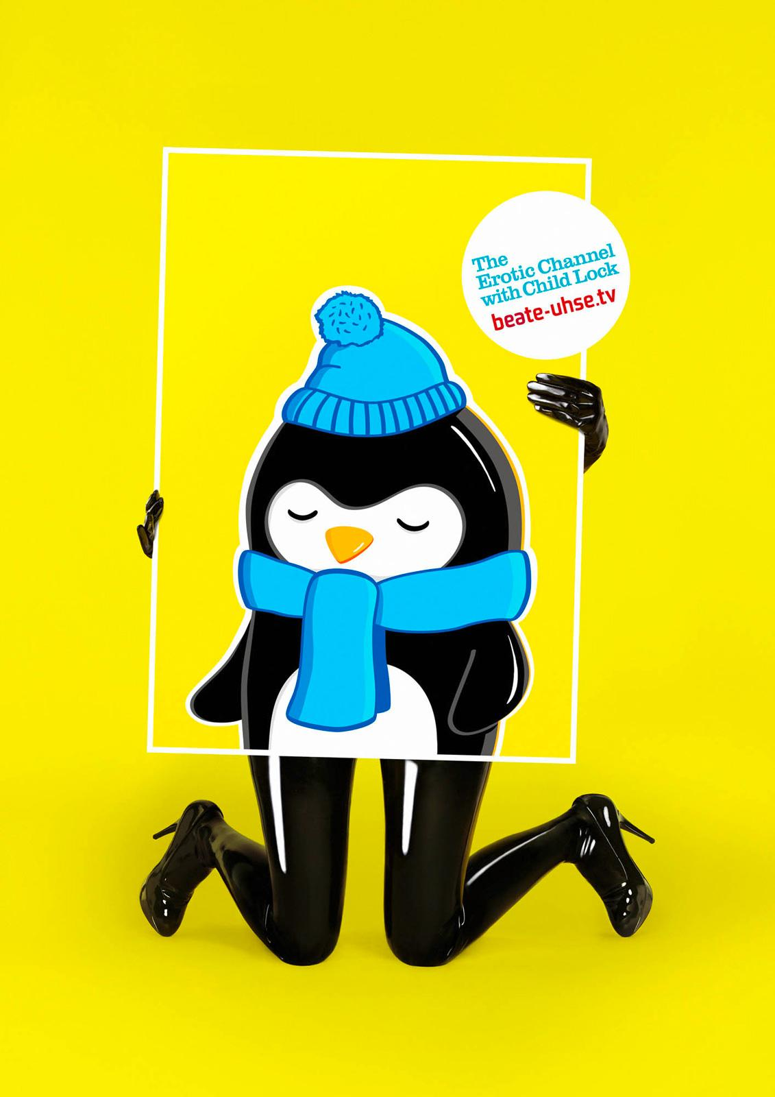 Beate Uhse Print Ad -  Child Lock, Penguin
