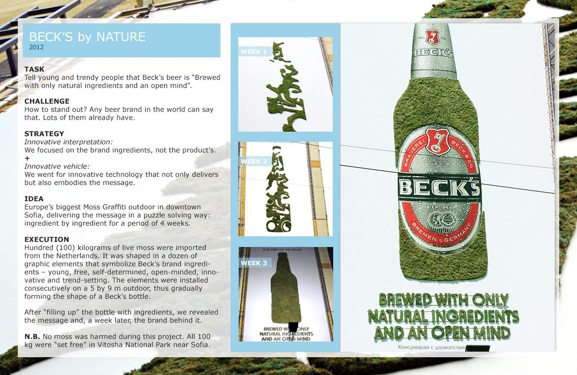 Beck's Outdoor Ad -  Nature