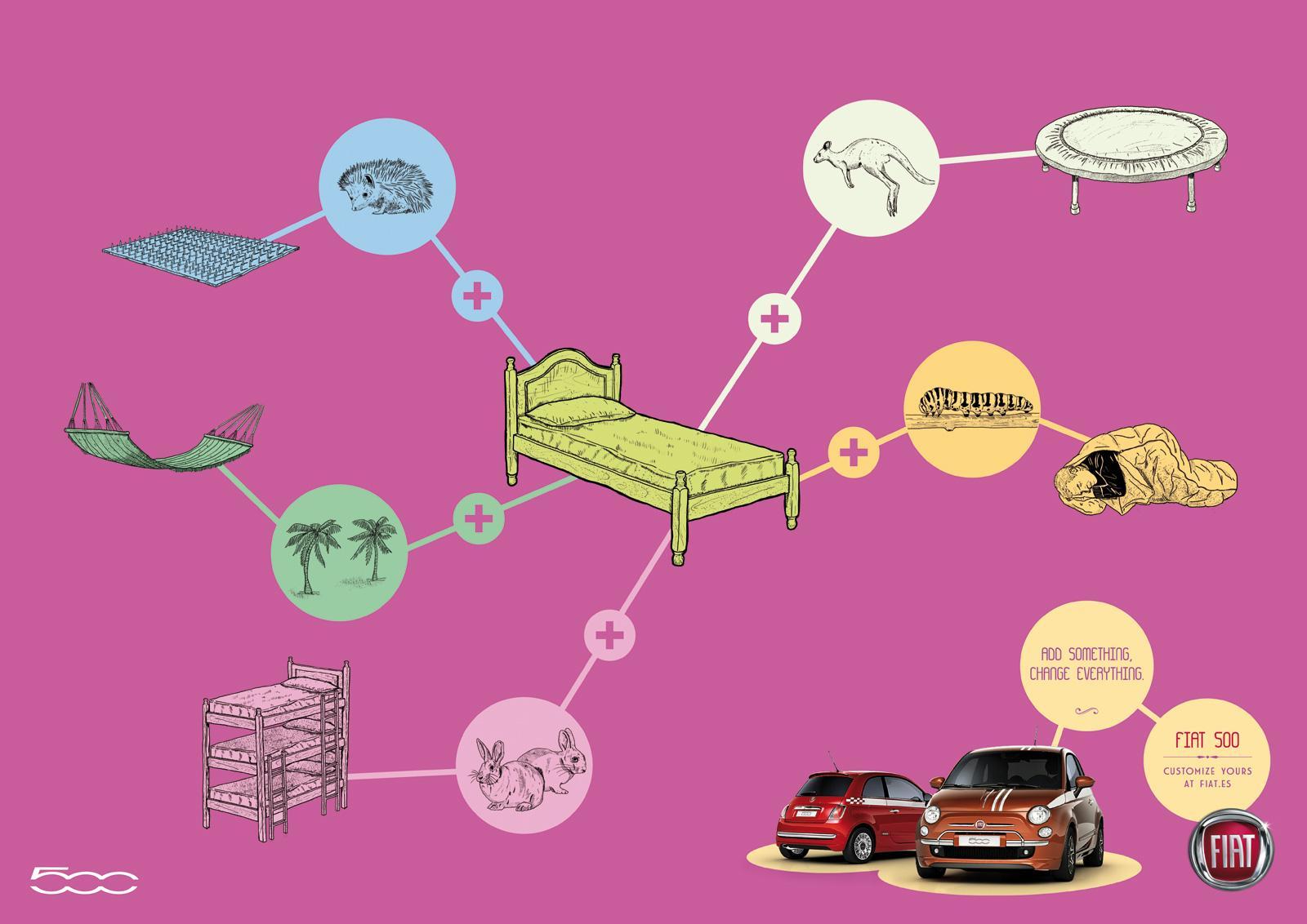 Fiat Print Ad -  Bed