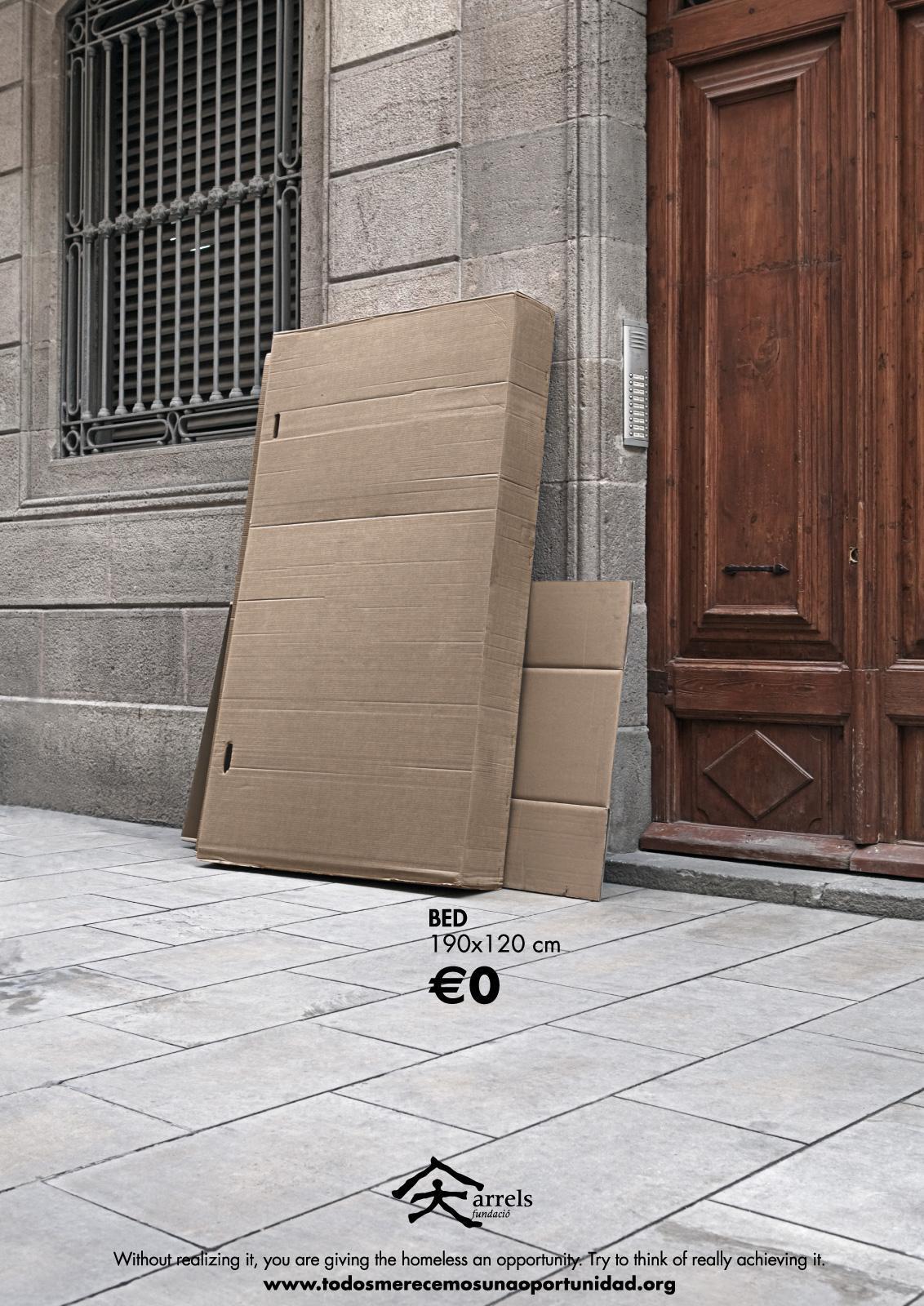 Arrels Foundation Print Ad -  Bed