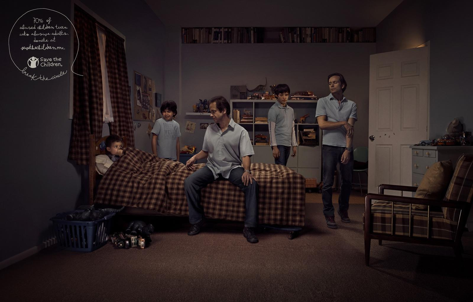 Save the Children Print Ad -  Bedroom Circle