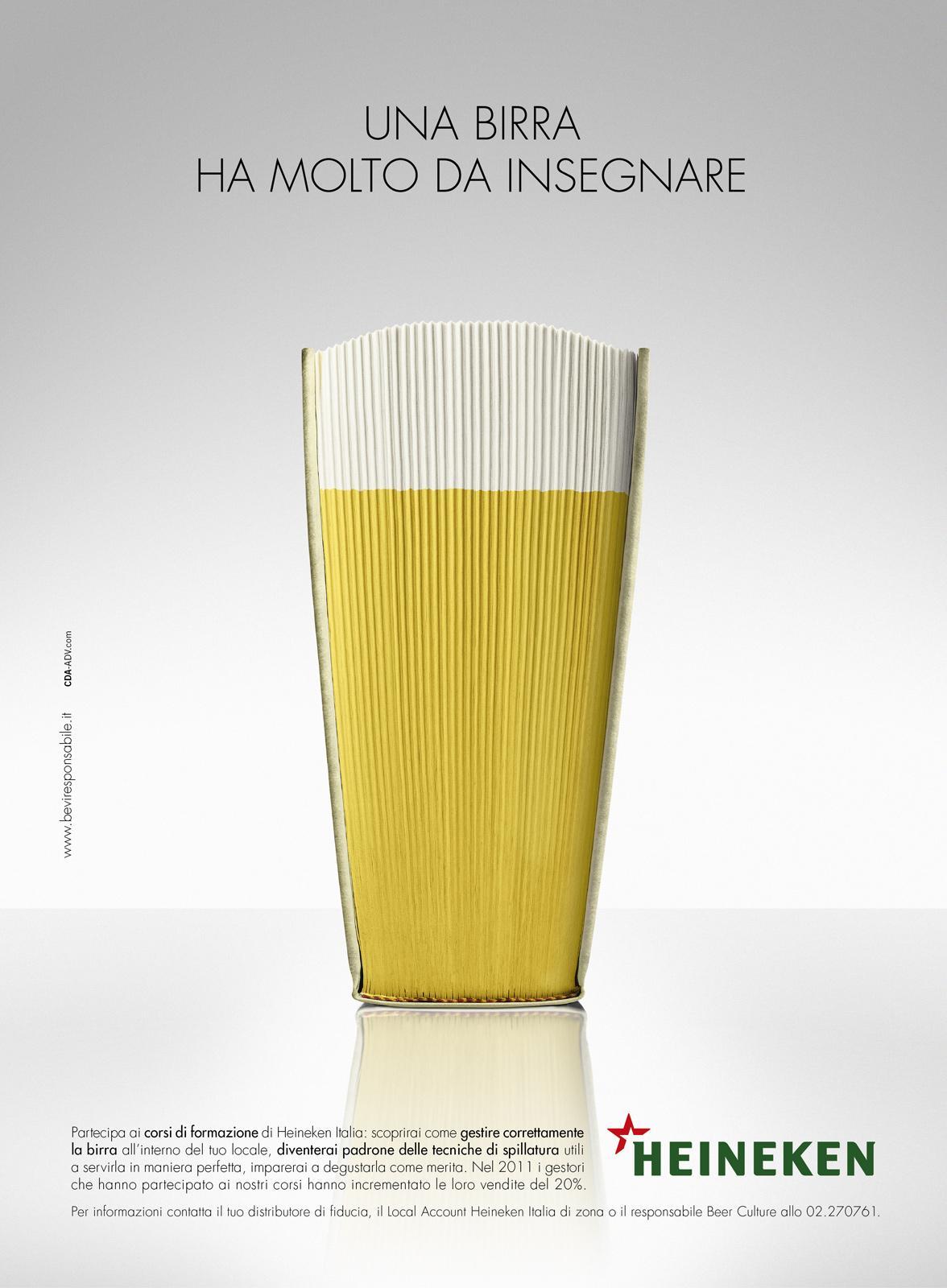 Heineken Print Ad -  The book