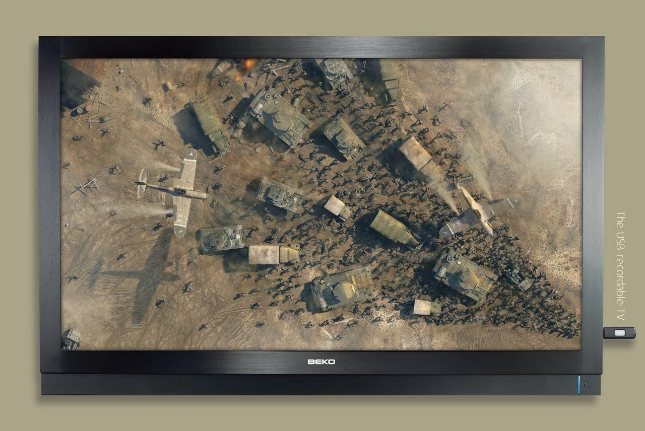 Beko Print Ad -  USB recordable TV, 2
