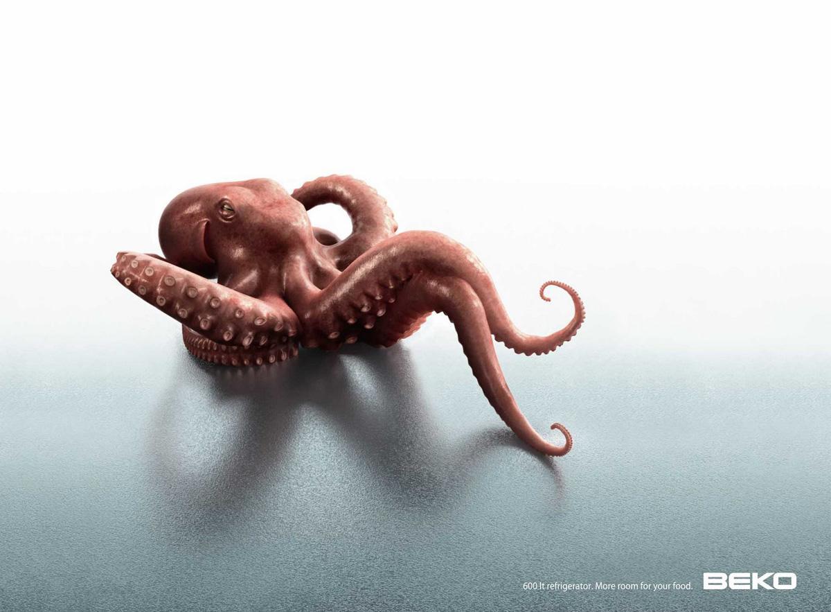 Beko Print Ad -  Octopus