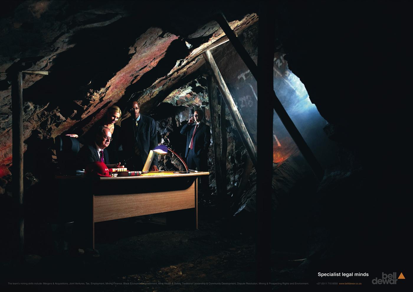 Bell Dewar Ambient Ad -  Underground