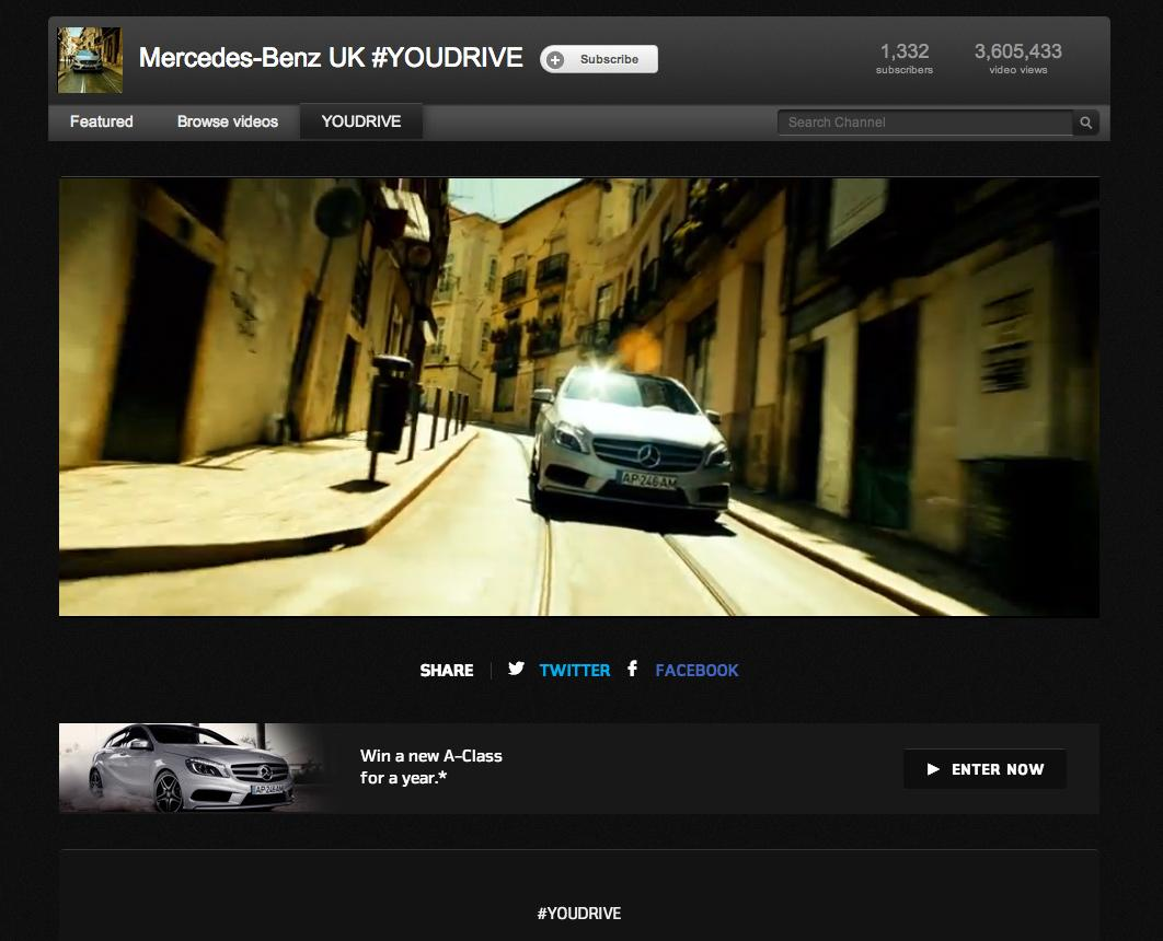 Mercedes Digital Ad -  #YOUDRIVE