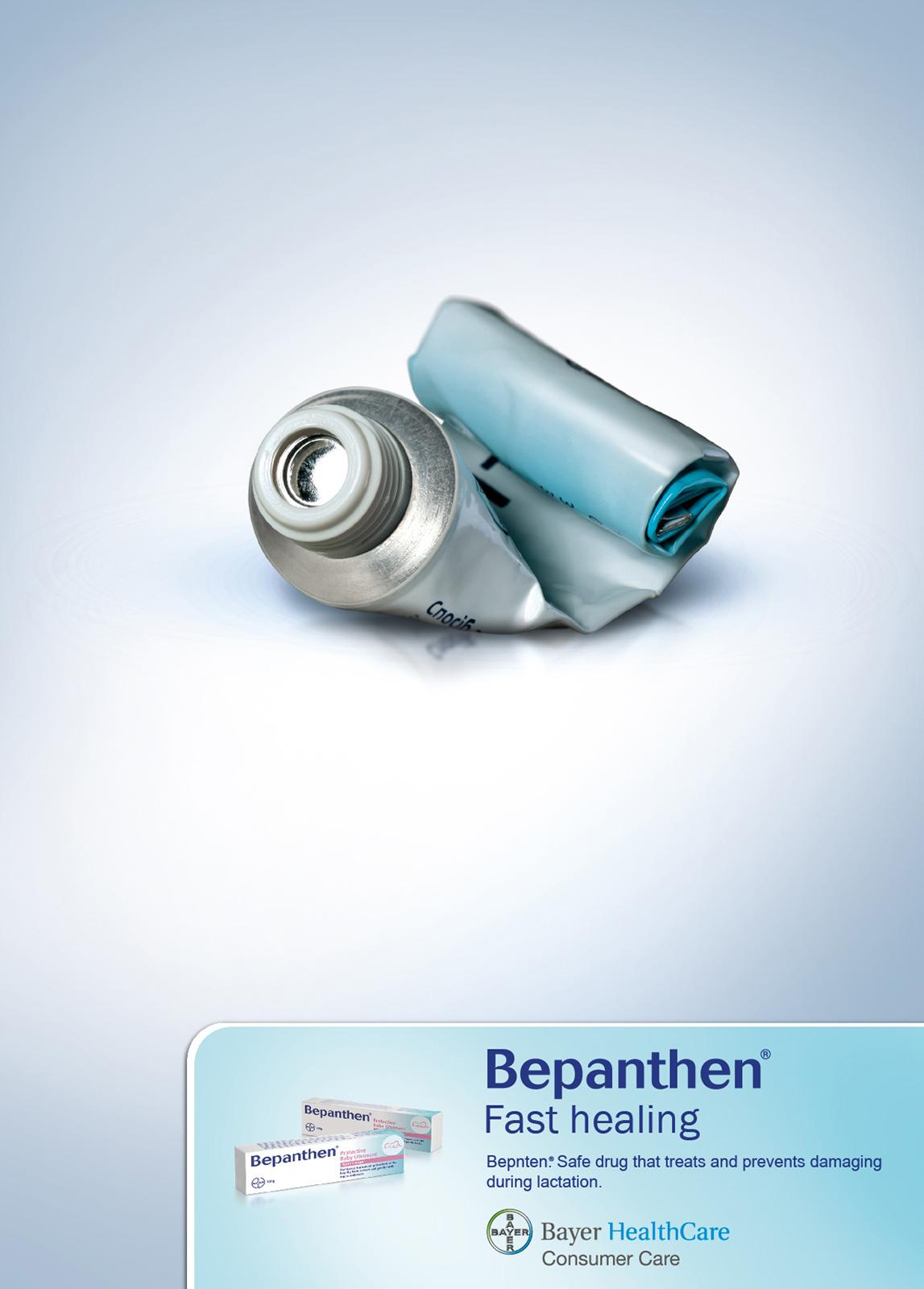 Bepanthen Print Ad -  Fast healing
