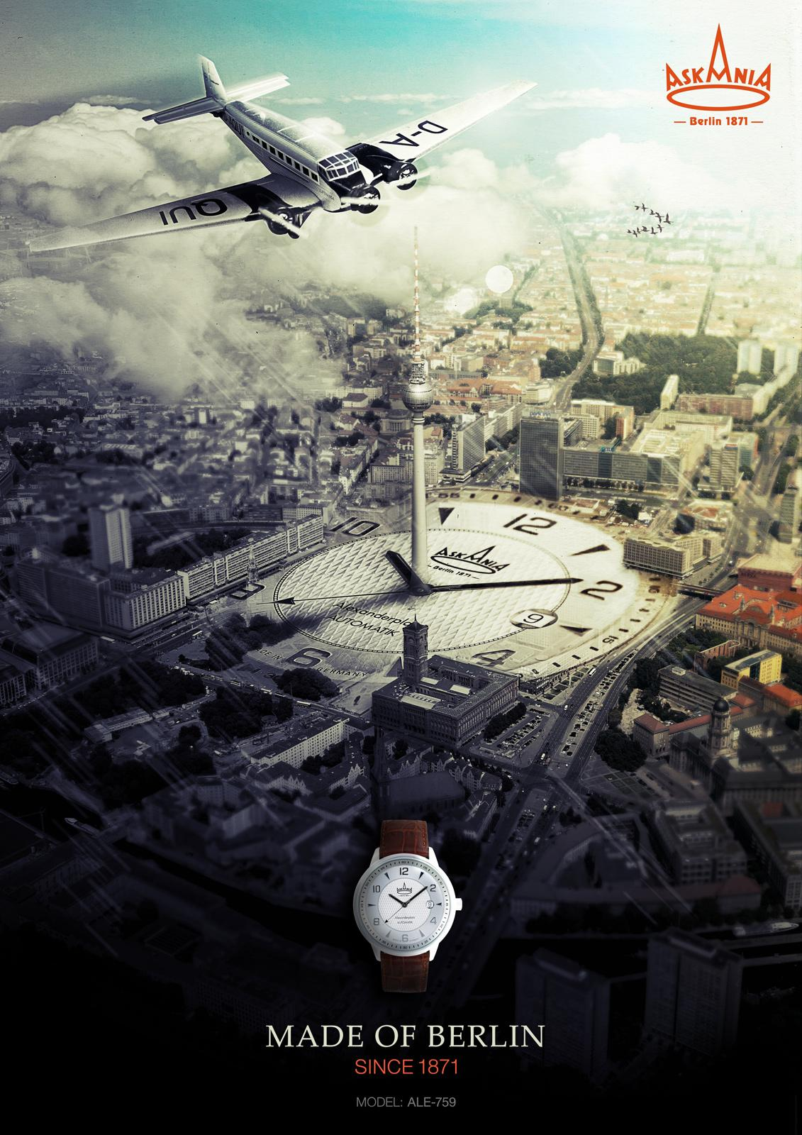 Askania Print Ad -  Berlin, 3