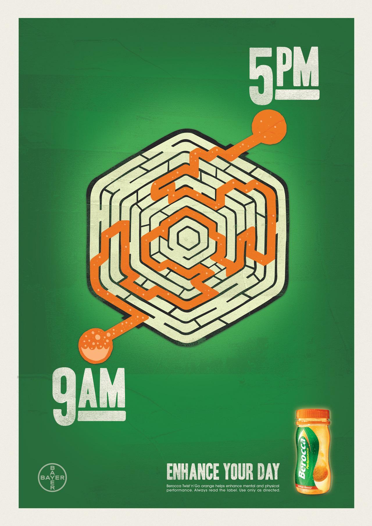 Berocca Print Ad -  Maze