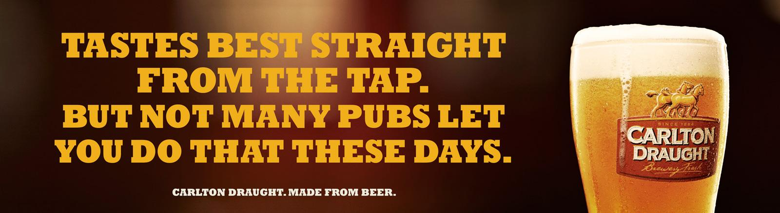 Carlton Outdoor Ad -  Best From Tap