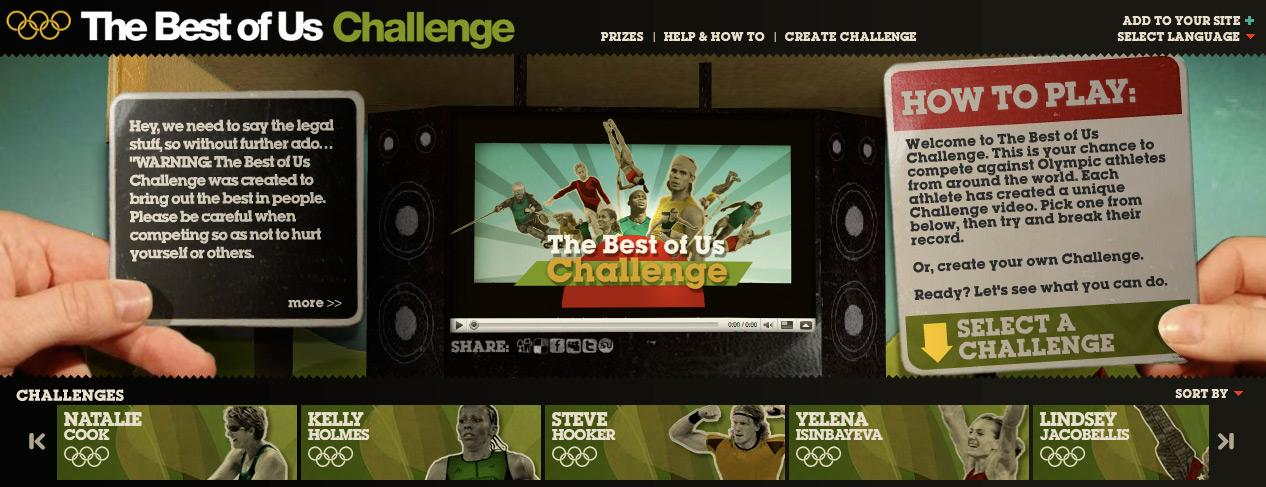 International Olympic Committee Digital Ad -  The Best of Us Challenge