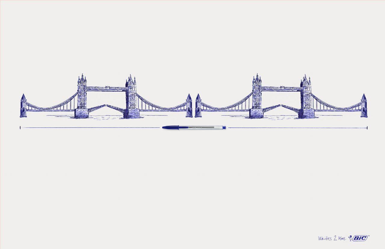 BIC Print Ad -  Tower bridge