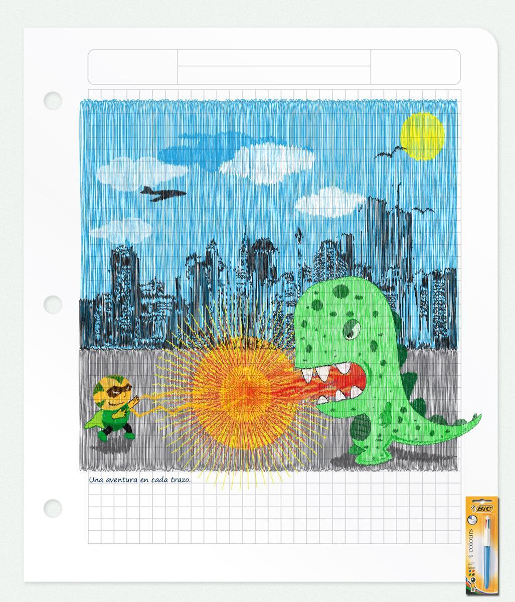 BIC Print Ad -  Dragon