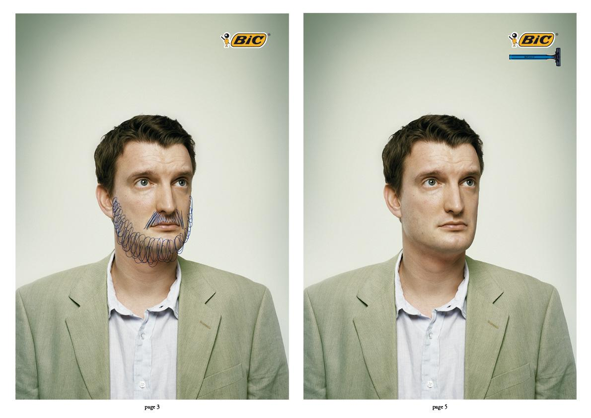 BIC Print Ad -  Shave
