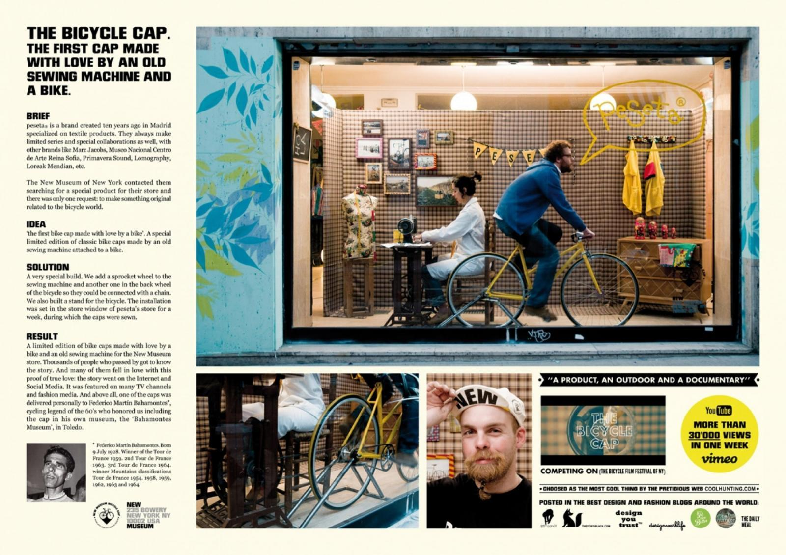 Bicycle Accessories Ambient Ad -  The bycicle cap