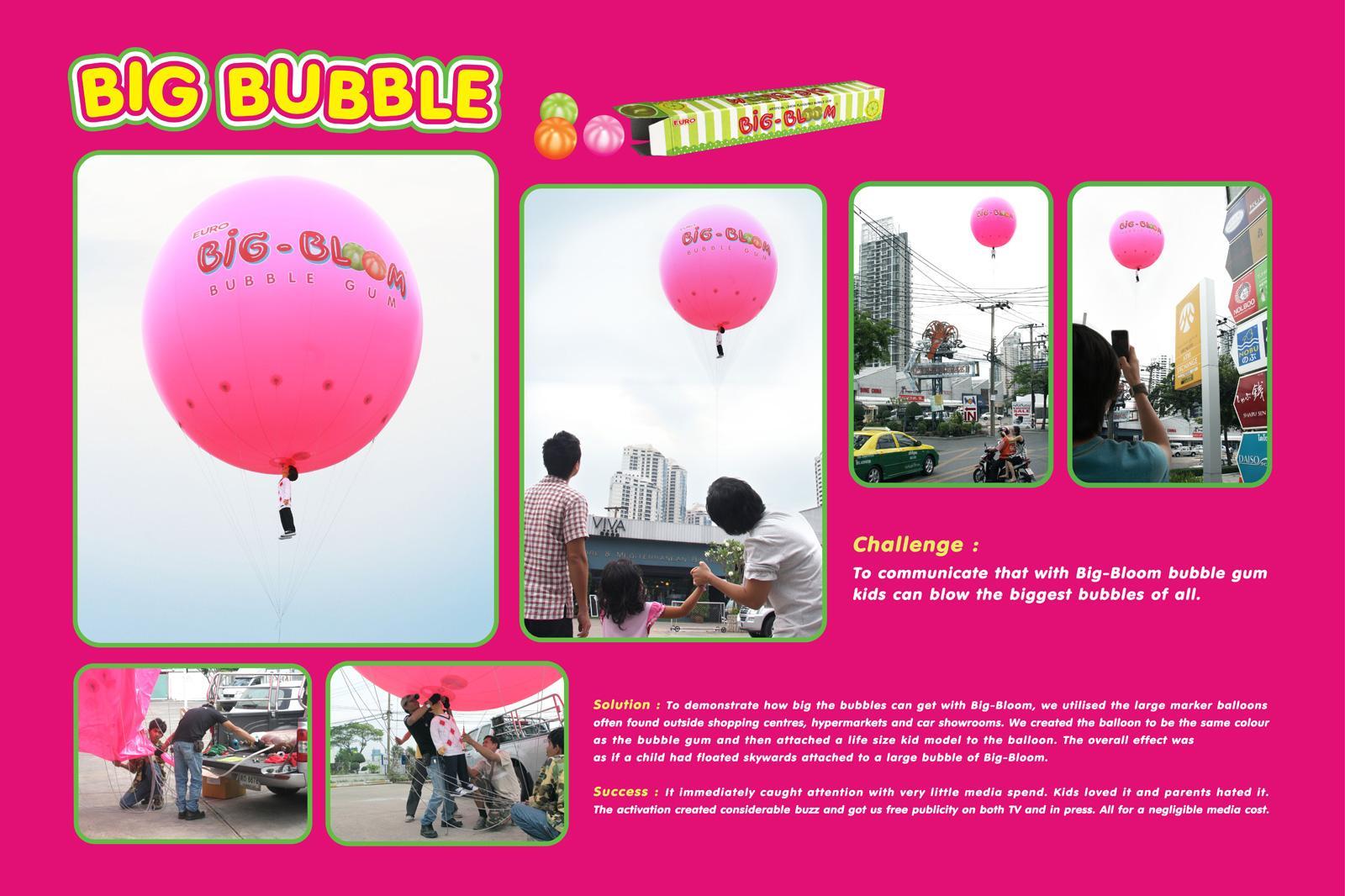 Big Bloom Ambient Ad -  Hot air balloon