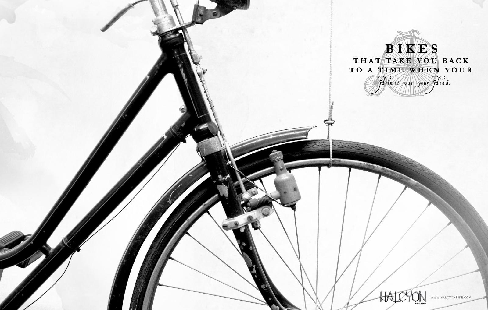 Halcyon Bikes Print Ad -  Helmet