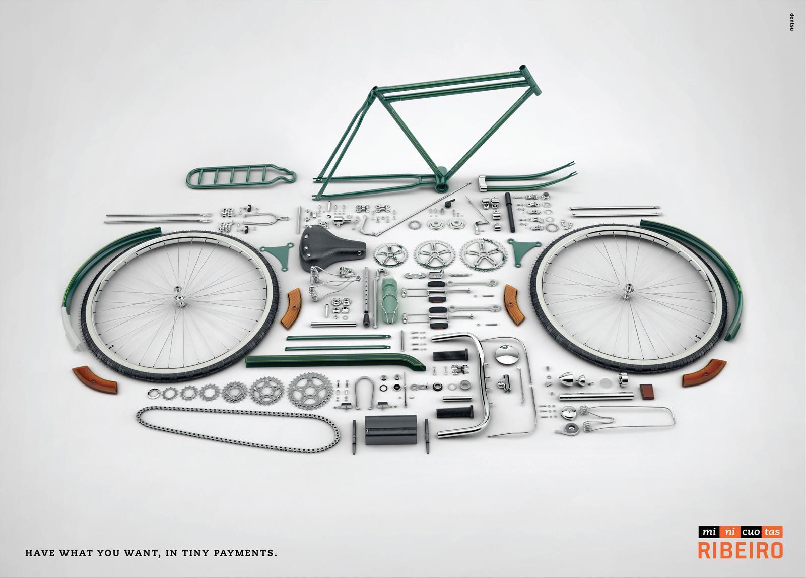 Minicuotas Ribeiro Print Ad -  Pieces, Bike