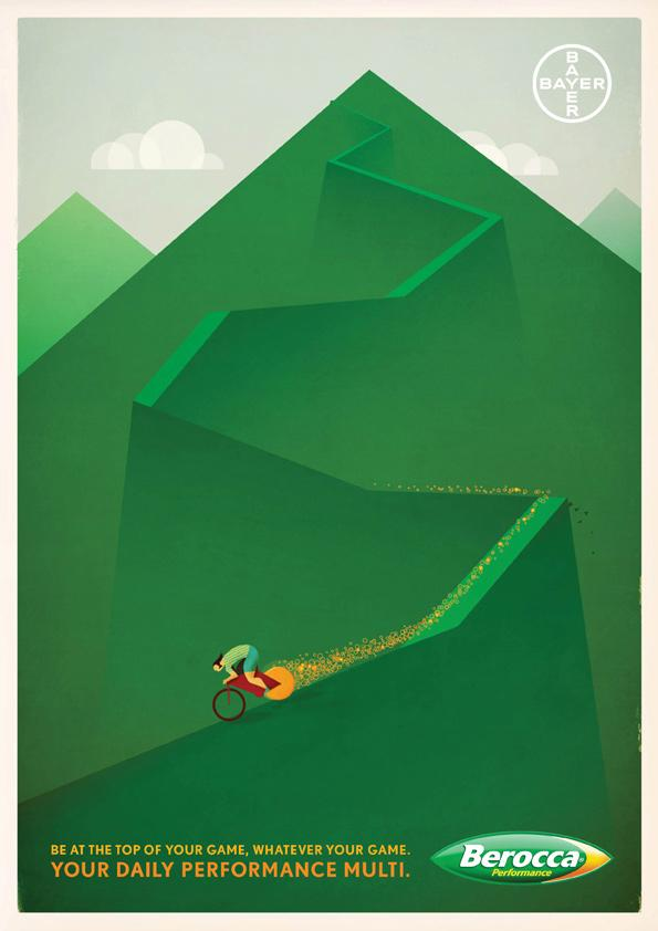 Berocca Print Ad -  Bike