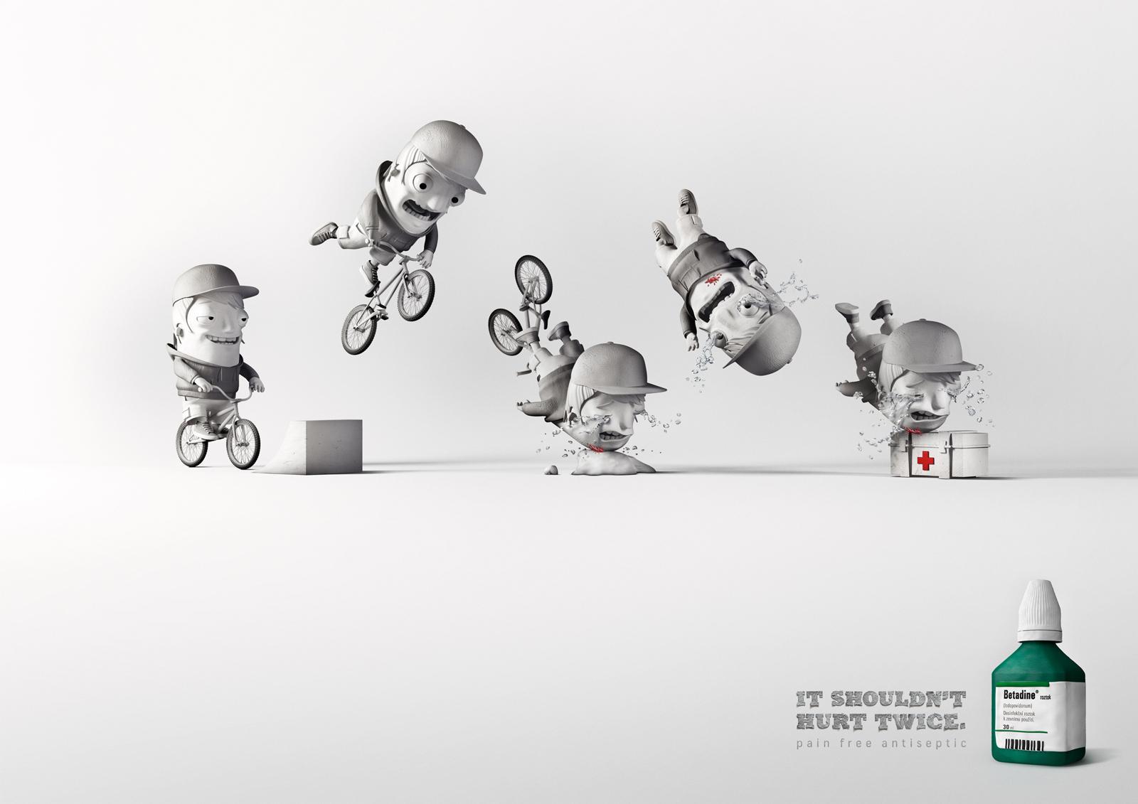 Betadine Print Ad -  Bike Accident
