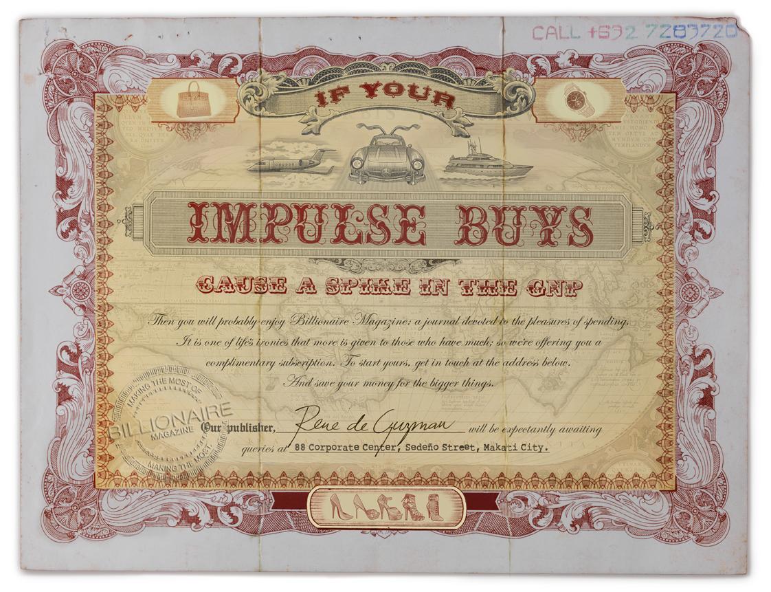 Billionaire Magazine Print Ad -  Impulse