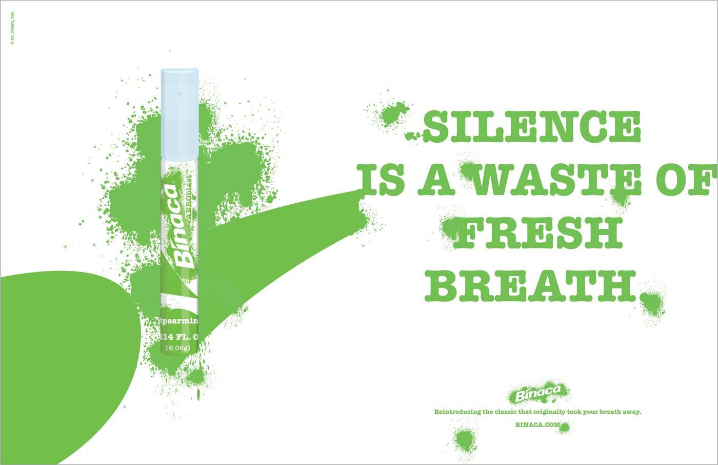 Binaca Print Ad -  Silence