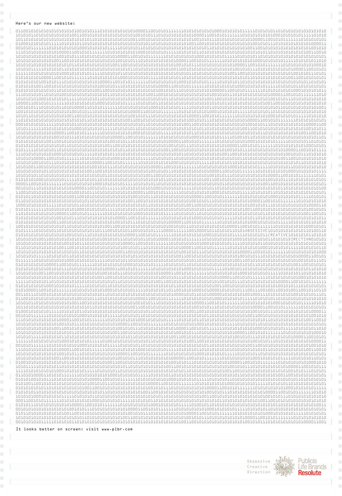 Publicis Print Ad -  Binary Code