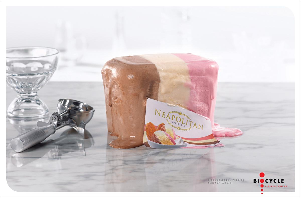 Biocycle Print Ad -  Ice cream