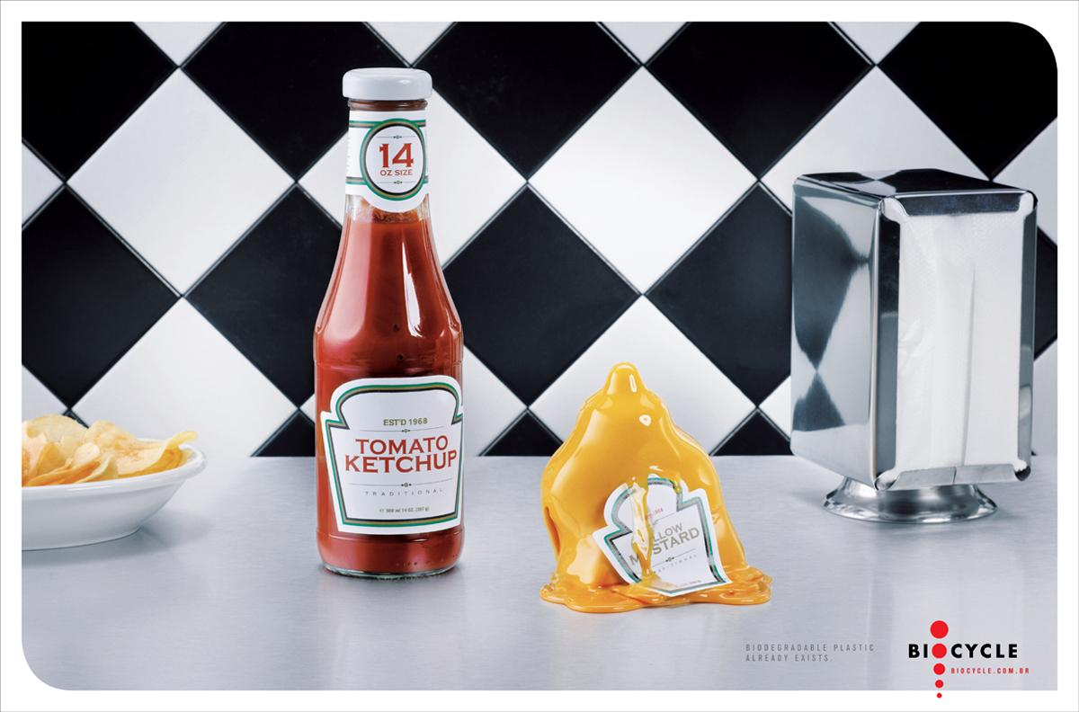 Biocycle Print Ad -  Mustard