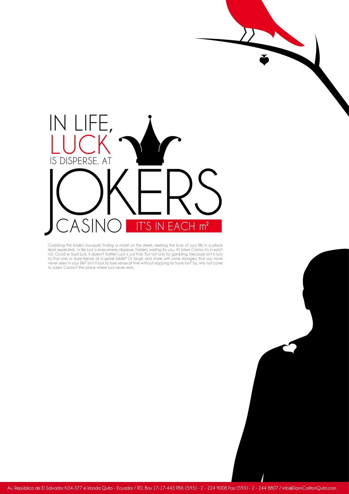 Jokers Casino Print Ad -  Bird Poop