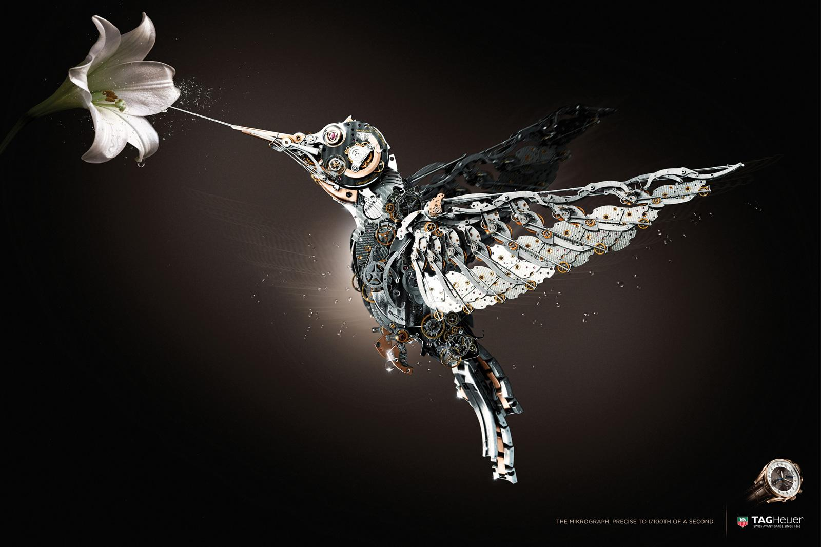 Tag Heuer Print Ad -  Bird
